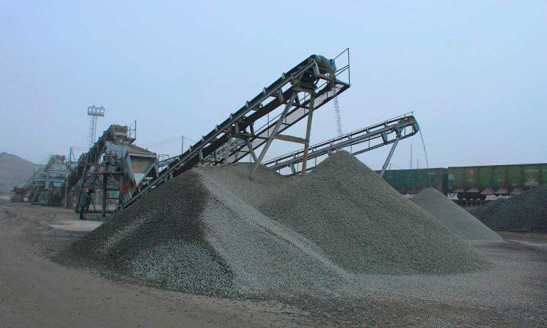 Производство гранитного, гравийного и известнякового щебня